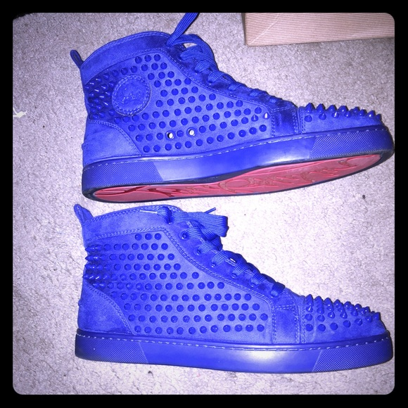 924739dbf03 Christian Louboutin Blue High Tops Sneakers Euro46